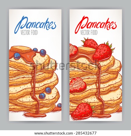 two vertical banners with