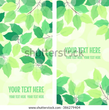two vertical banners with fresh