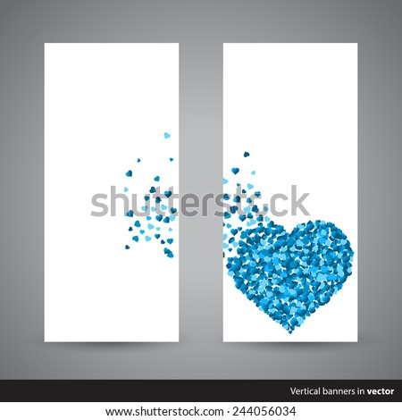two vertical valentine cards