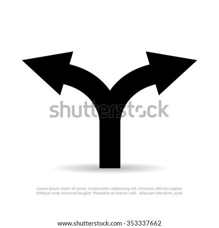 two way arrow vector symbol
