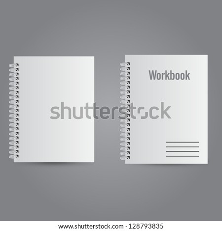 Two white realistic notebooks with place for your design or text.