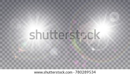 two white sun with lens flare