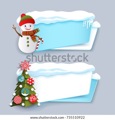two winter banner with