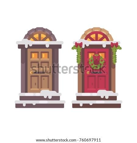two winter doors christmas