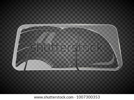 two wiper cleans the windshield