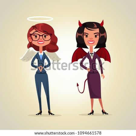 two woman office worker