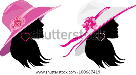 stock-vector-two-women-in-a-elegant-hats