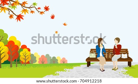two women lunch in the autumn