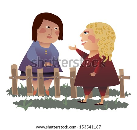 two women talking over the