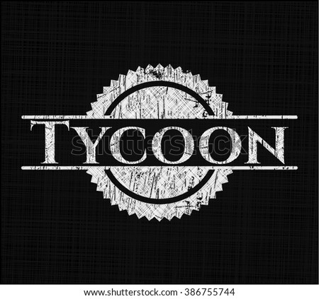Tycoon with chalkboard texture