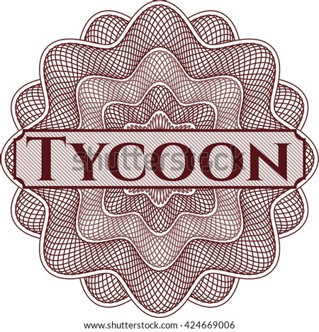 Tycoon written inside abstract linear rosette
