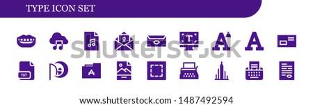 type icon set 18 filled type