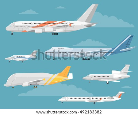 type of airplane vector