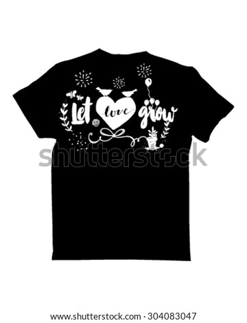 type tees   let love grow 01