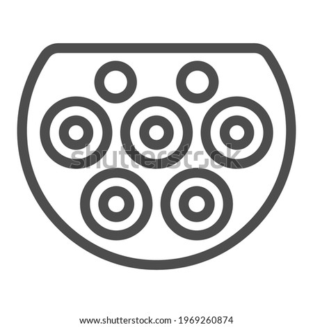 Type two charger port line icon, Electric car concept, Electric Car charging plug sign on white background, EV connector icon in outline style mobile, web design. Vector graphics. Stock photo ©