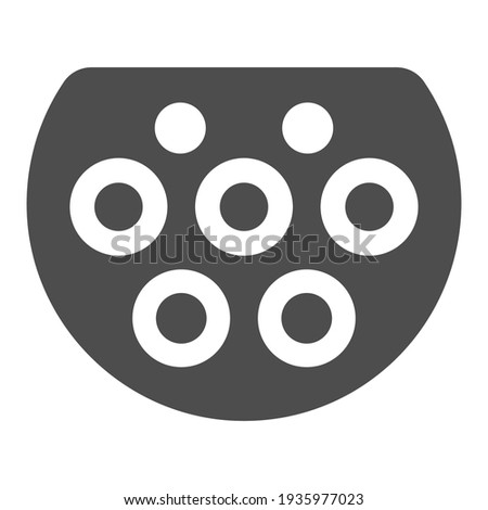 Type two charger port solid icon, Electric car concept, Electric Car charging plug sign on white background, EV connector icon in glyph style mobile, web design. Vector graphics. Stock photo ©