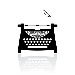 Type writer icon vector illustration isolated on white background