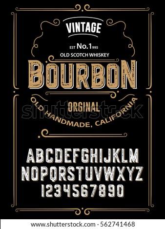 typefacelabel bourbon