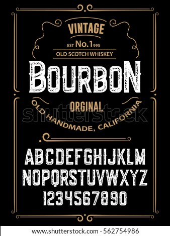 typeface label bourbon