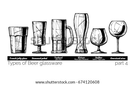 types of beer glassware. french ...