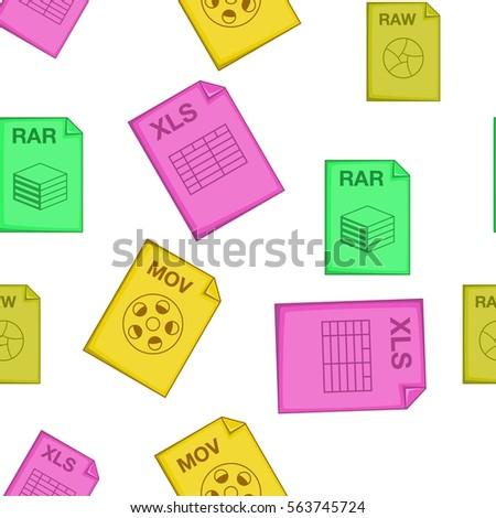 types of files pattern cartoon