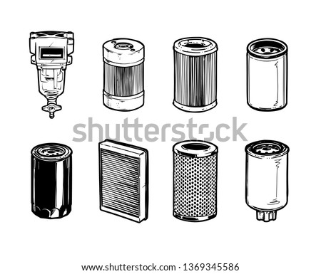 Types of Filters for Heavy Machinery. Hydraulic, Fuel and Oil Filers, Air Filters, Coolant Filters, Separator Filter