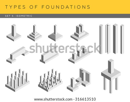 types of foundations set of