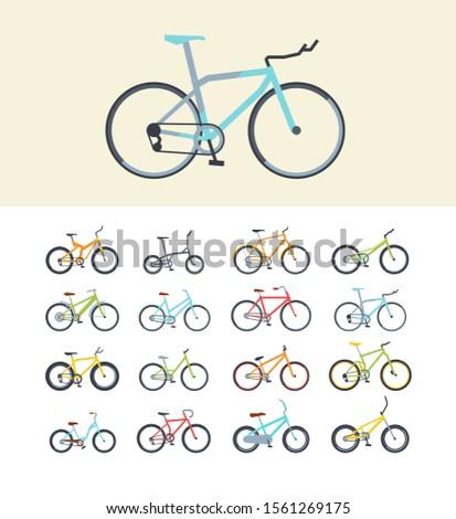 types of modern bikes flat