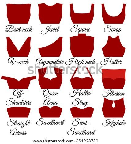 types of neck cuts set