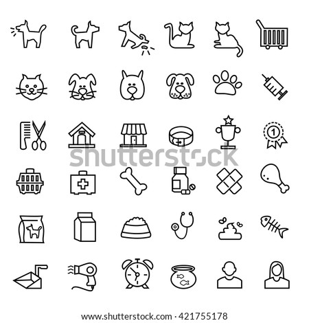 Types of pets icons