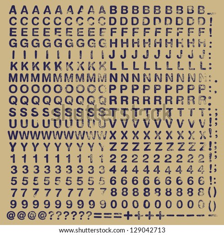 Typeset of rubber stamp rounded characters