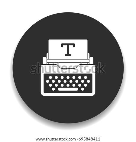 typewriter icons