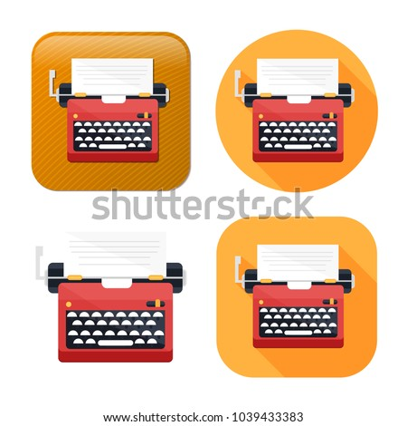 typewriter machine icon - type letter machine - keyboard typeing icon