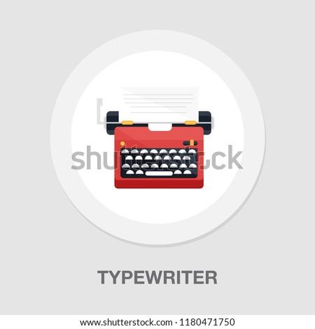 typewriter machine icon - type letter machine - keyboard typeing icon