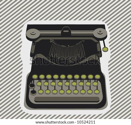 typewriter- object - Vector