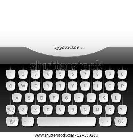 Typewriter. Vector.