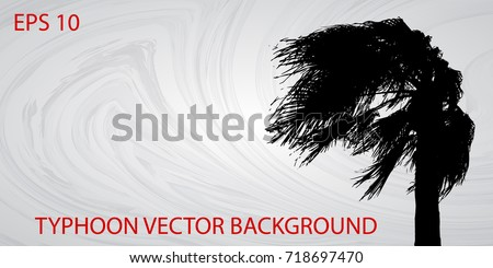 typhoon vector background with