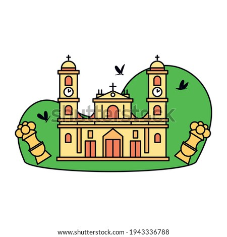 typical colombian church or