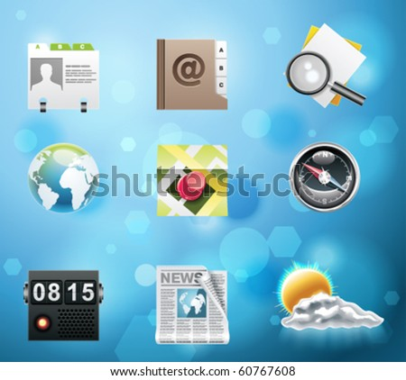 Typical mobile phone apps and services icons. EPS 10 version. Part 3 of 10