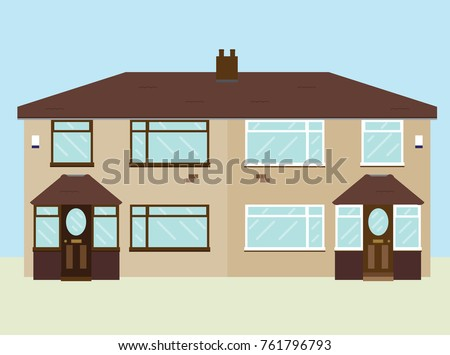 Typical 1950s UK semi-detached house