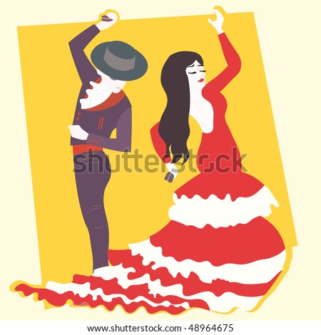 typical spanish flamenco vector