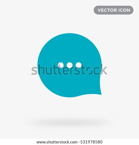 Typing in a chat bubble icon illustration isolated vector, comment sign symbol