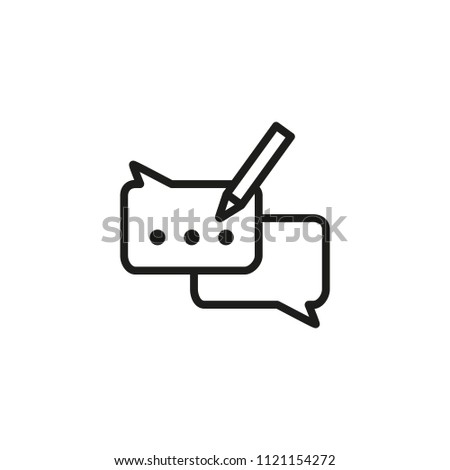 Typing message line icon. Advice, Interface concept. Vector illustration can be used for topics like messenger, forum, technical support
