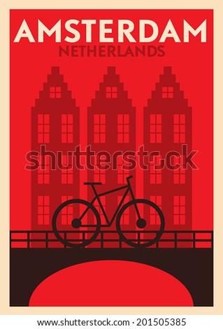typographic amsterdam city