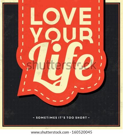 typographic background   love