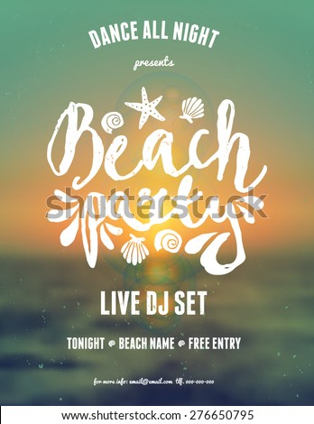 typographic beach party music