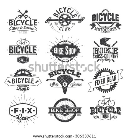 typographic bicycle label