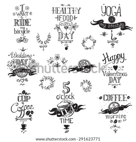 typographic hand drawn vintage