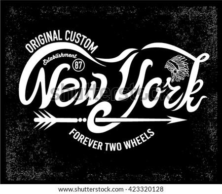 typographic new york writing