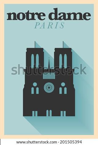 typographic paris city poster
